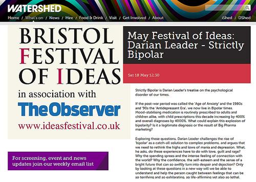 Darian Leader - psychoanalyst - Bristol Watershed Festival of Ideas